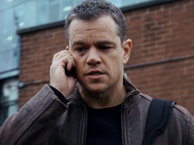 Matt Damon em cena do filme 'Jason Bourne'