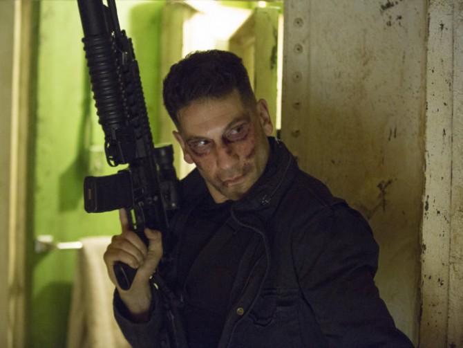 O personagem Frank Castle (vivido por Jon Bernthal) em cena da série 'Demolidor', da Netflix.