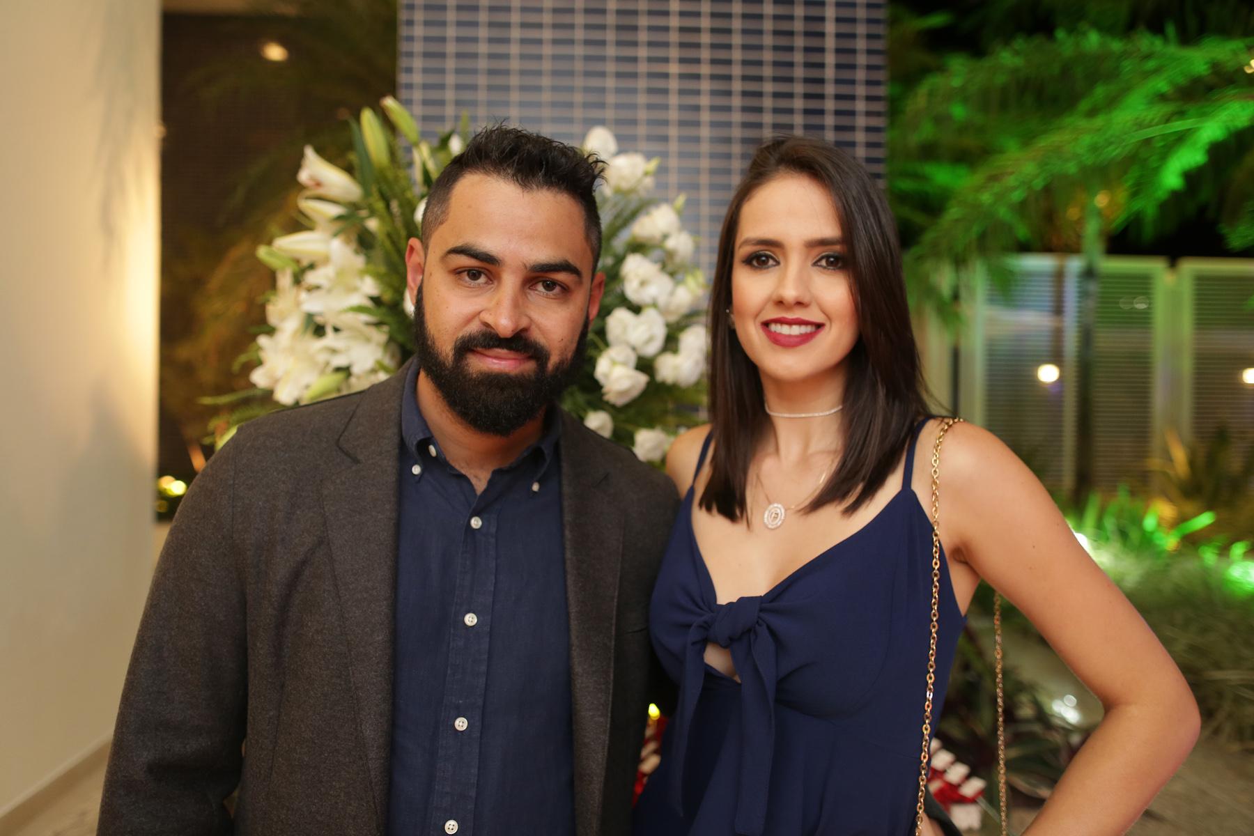 Phillip Dal Lago e Fernanda Dal Lago, em noite de festança.