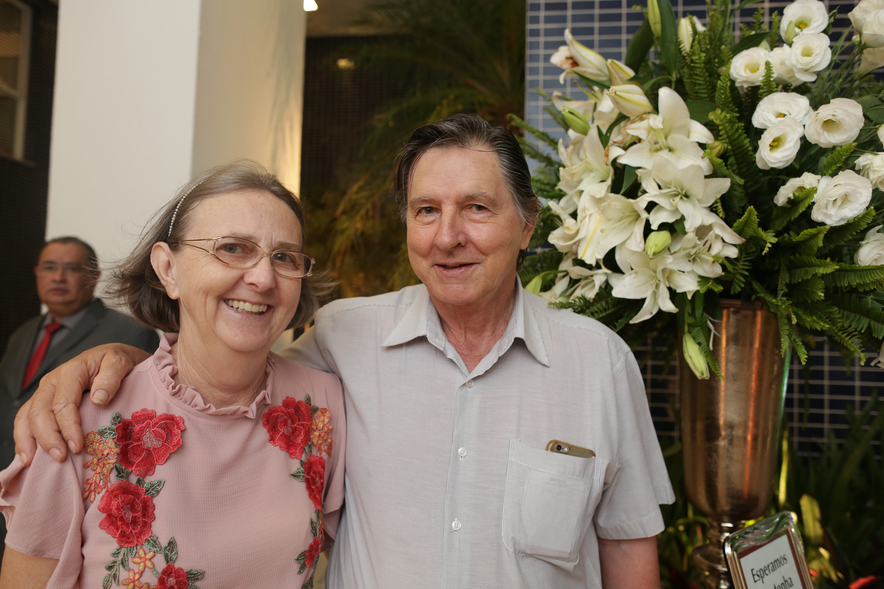 Ilson e Helena Carloto prestigiando a entrega do Edifício Rodin.