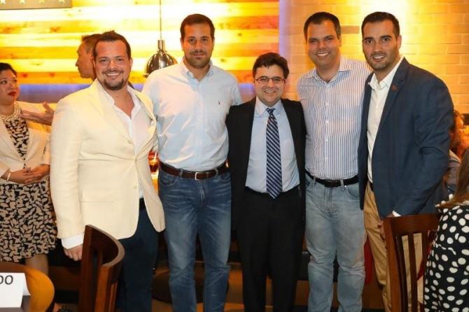 Pedro Pagnozzi, Paulo Mathias, Ricardo Zuniga, Bruno Covas e Rafael Limonta