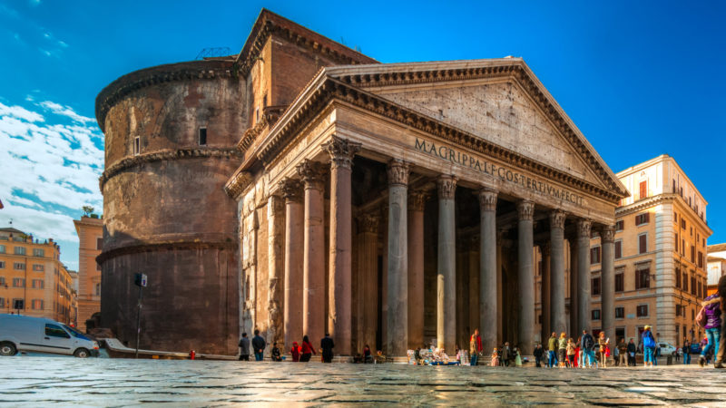Inside the Pantheon, Rome, Italy.