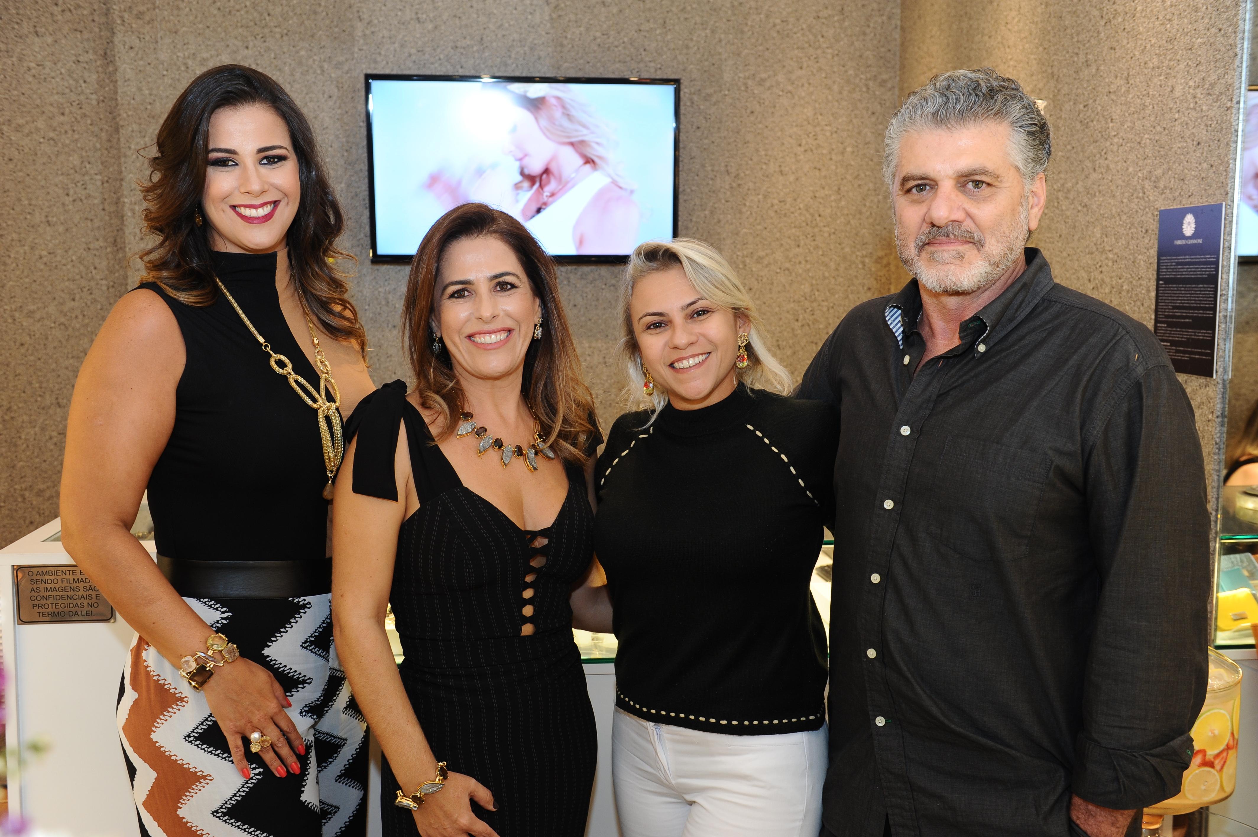 Bianca Raffi, Vanessa Auto, Marluce Borges e Fabrizio Giannone