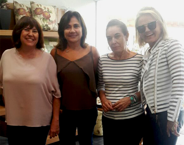 Durante coquetel realizado esta semana na Monalisa Joias, Sirene Lima, Fatima Figueiredo, Maria Ines Barcelos e Liliane Fenske.