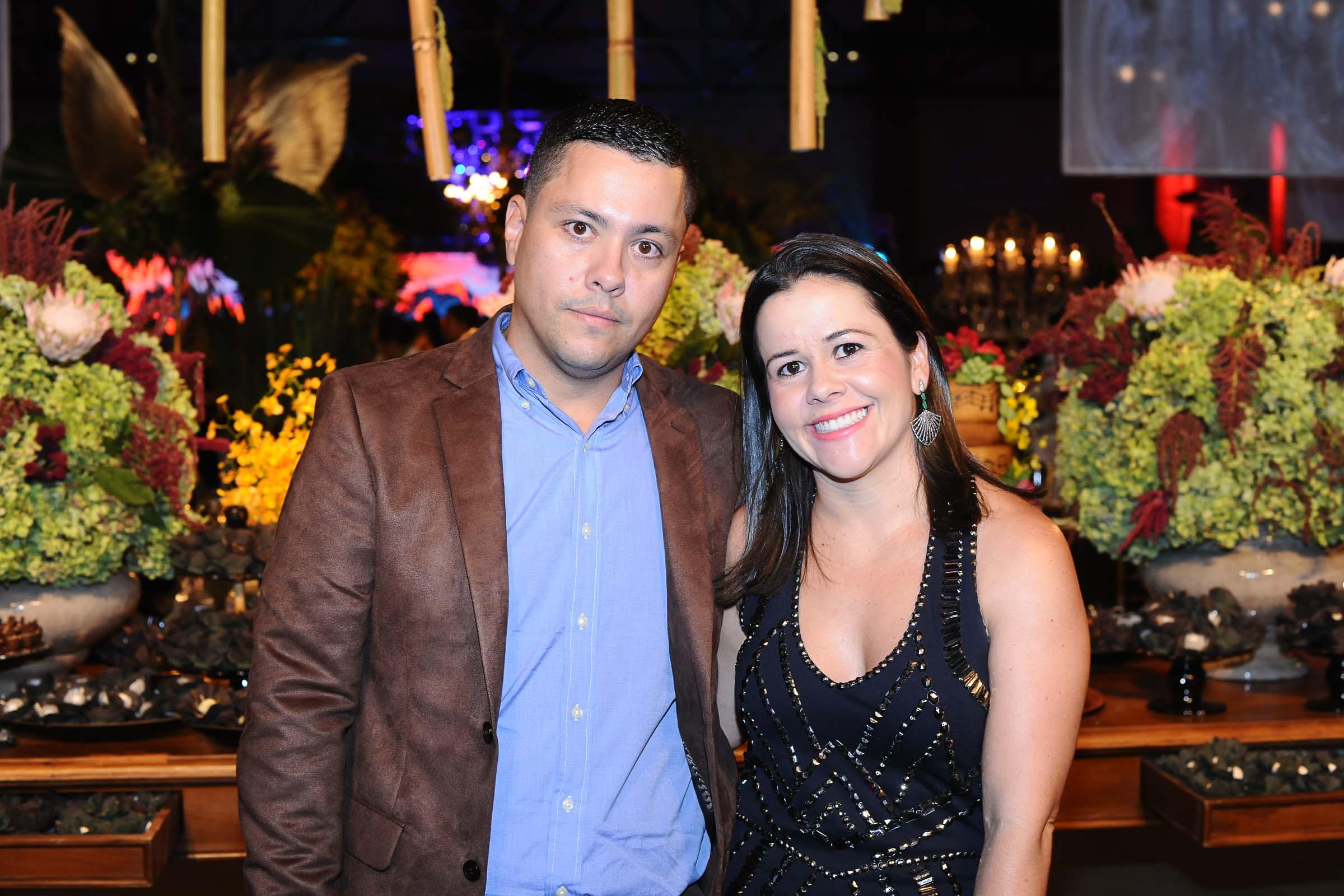 O casal Adriana e Leandro Siravegna
