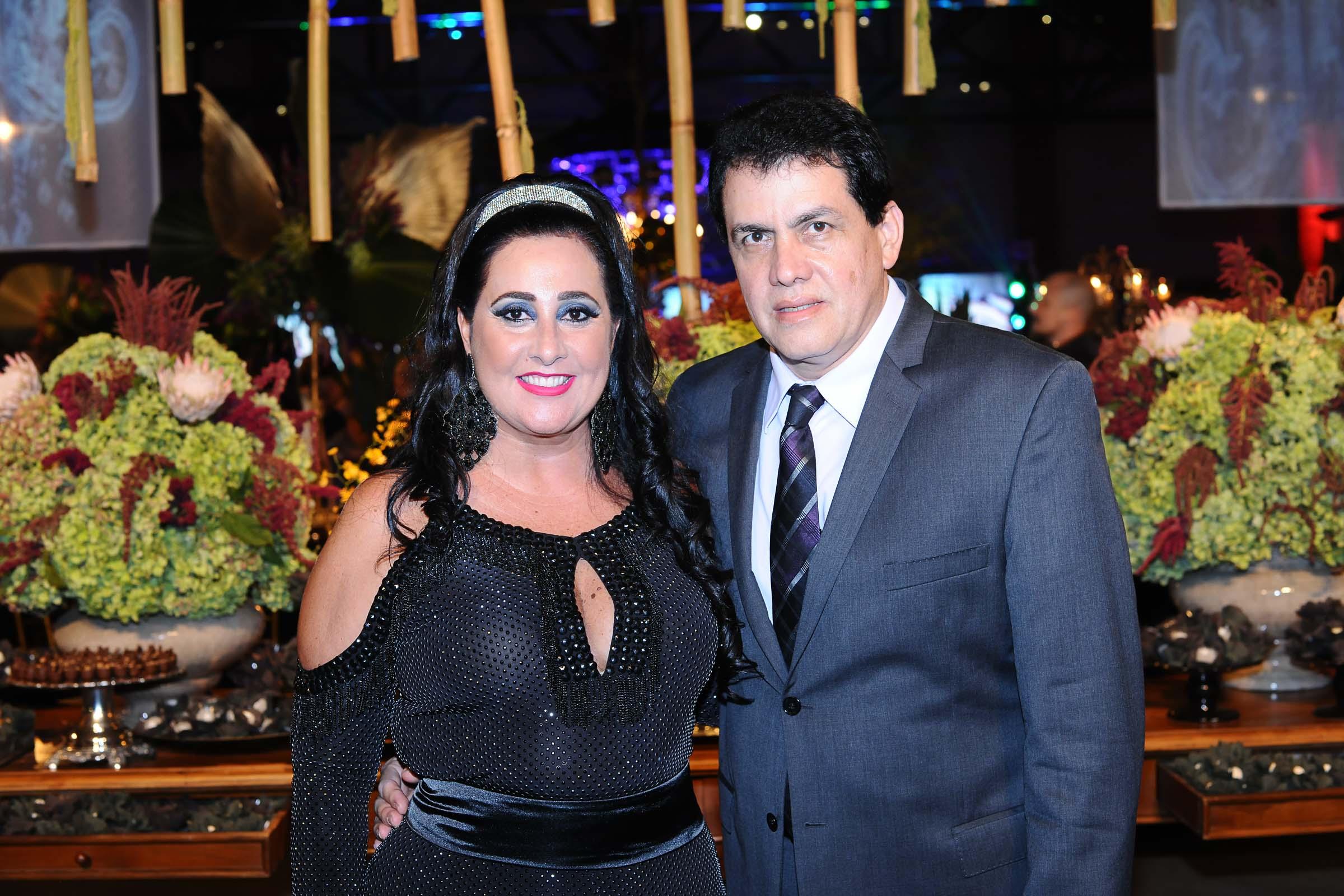 O casal Laurita e Marcelo Tognini