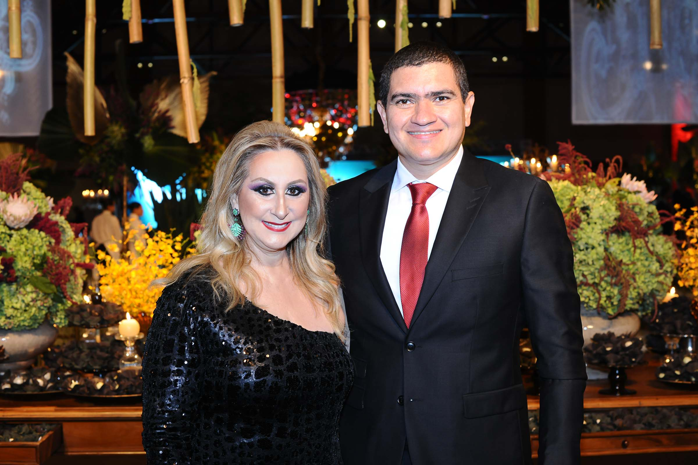 O casal Leni Fernandes e César Costa