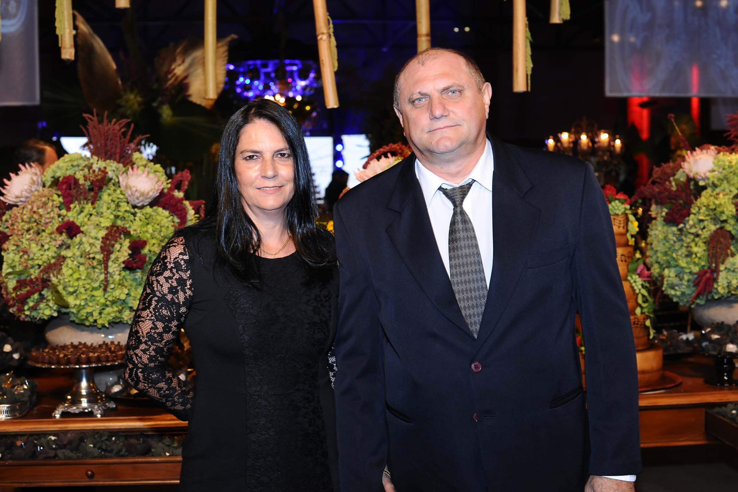 O casal Lourdes Poli e Claudio Roberto Martelli