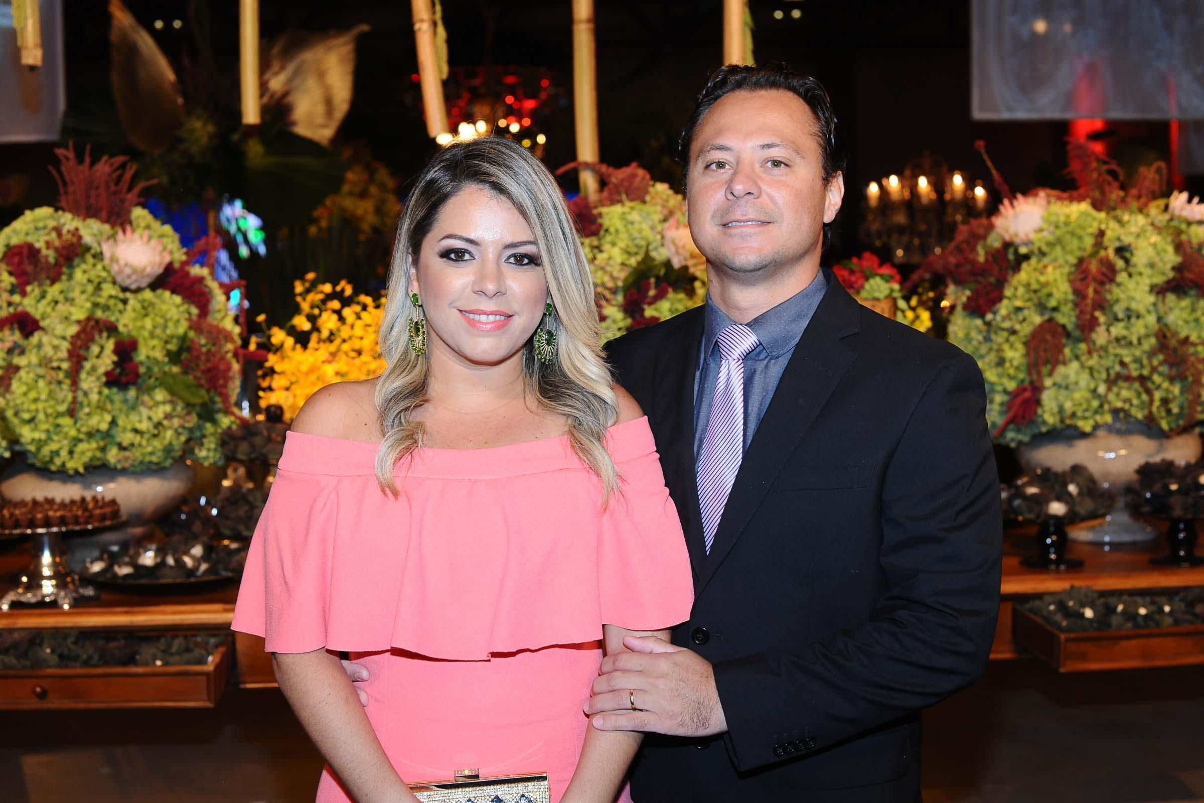 O casal Tatiana e Gustavo Vargas