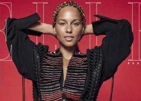 Alicia Keys estampa as quatro capas da ELLE de setembro