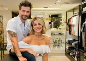 Bruno Gagliasso e Giovanna Ewbank inauguram loja da Colcci em Curitiba