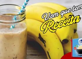 Milk-shake de banana e sorvete de creme para repor as energias