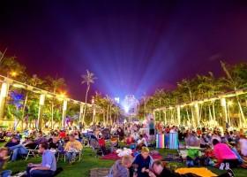 Exibição de filmes a céu aberto em Miami