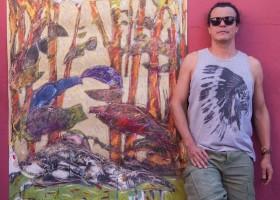 Após oito anos fora do país, Edson Castro expõe em Campo Grande obras inéditas