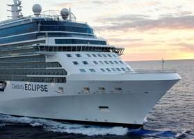 Celebrity Eclipse, o primeiro navio da classe Solstice a navegar por águas Sul Americanas,  chega ao porto de Santos